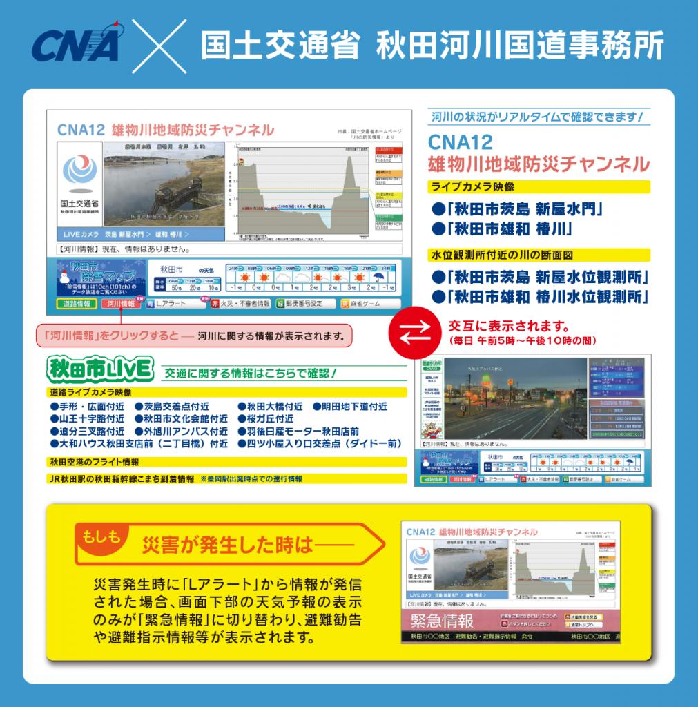 CNA×国土交通省秋田河川国道事務所